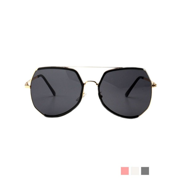 Oversized frame fashionable retro gilt sunglasses