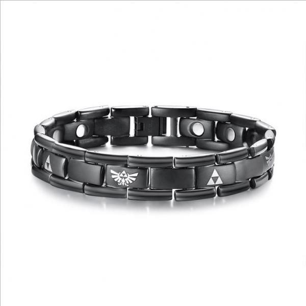 Laser Zelda  Titanium Steel Men s Bracelet