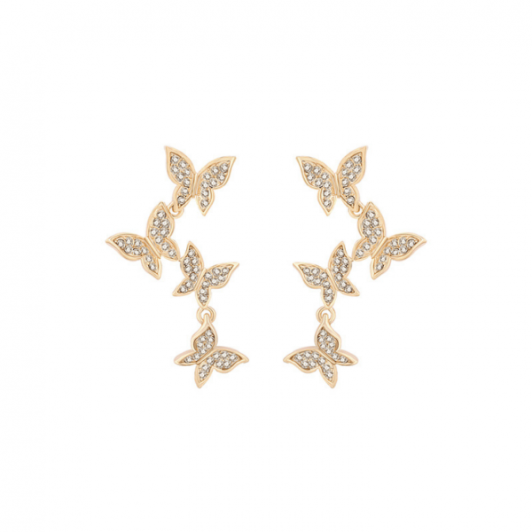 s925 silver needle hypoallergenic Korean new butterfly elf earrings