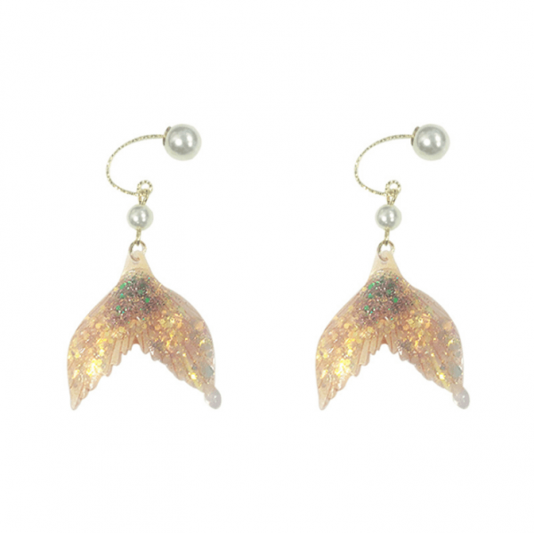 Mermaid legendary fashion Symphony earrings two-color combination