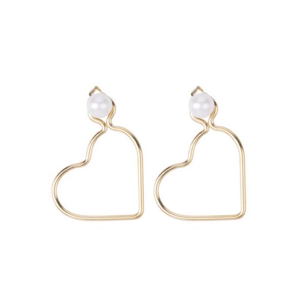 Korean popular 14k gold earrings, natural freshwater pearls 3 ways to wear