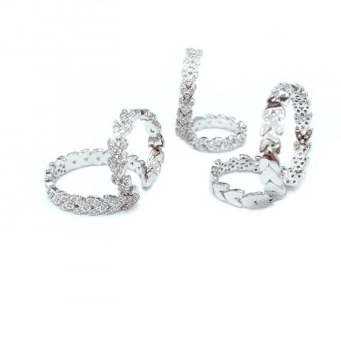 Fashion zircon wheat earrings with wheat ear ring