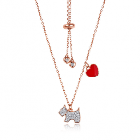 S925 Sterling Silver Fashion Puppy Necklace