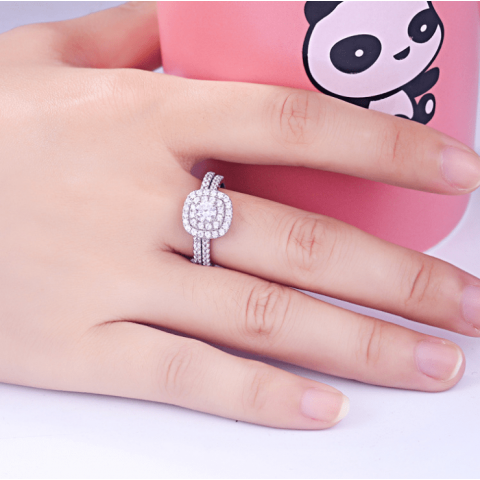 s925 sterling silver 2in1 ring