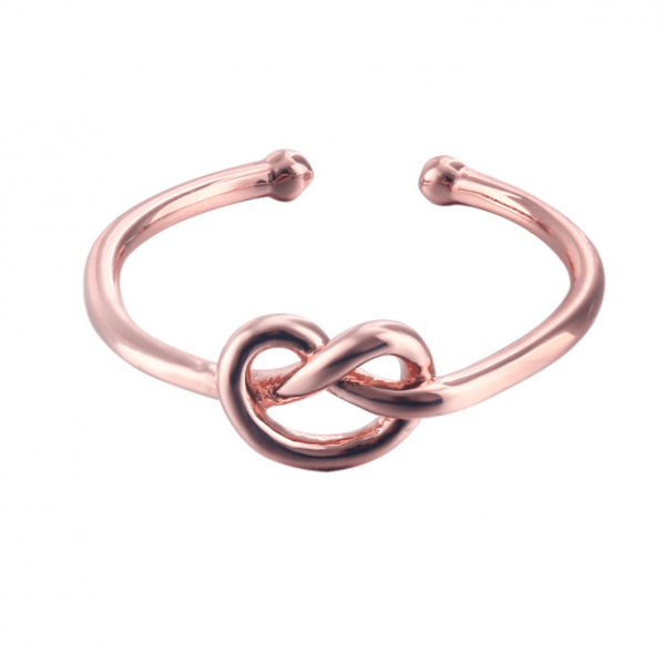 s925 sterling silver love knot tri-color..