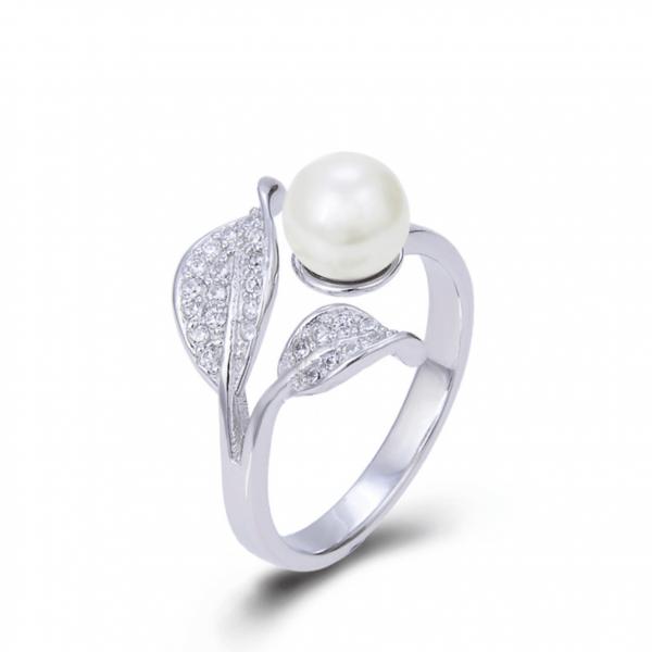 Master design S925 sterling silver elegant pearl ring
