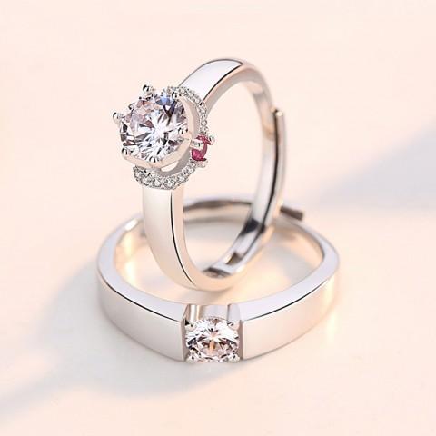 Flower 925 Sterling Silver Wedding Rings