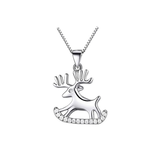 925 sterling silver Christmas moose neck..