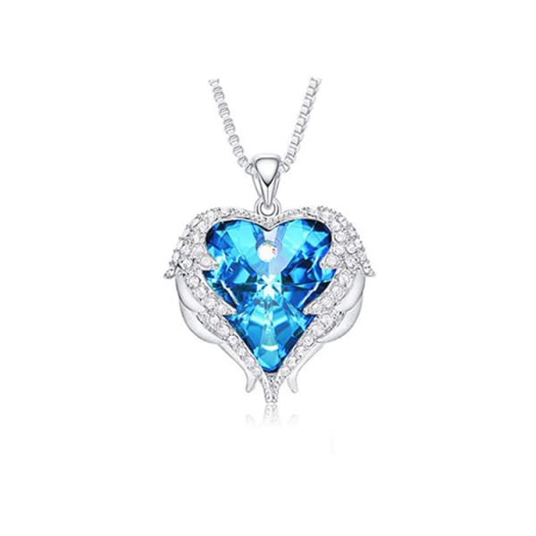 Ins influencers recommend angel wings crystal necklace
