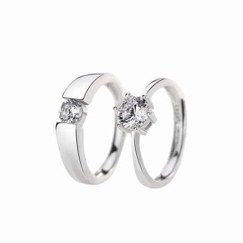 Classic 925 Sterling Silver Wedding Rings