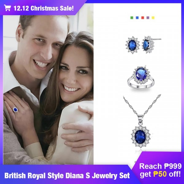 British Royal Style Diana s Jewelry Set