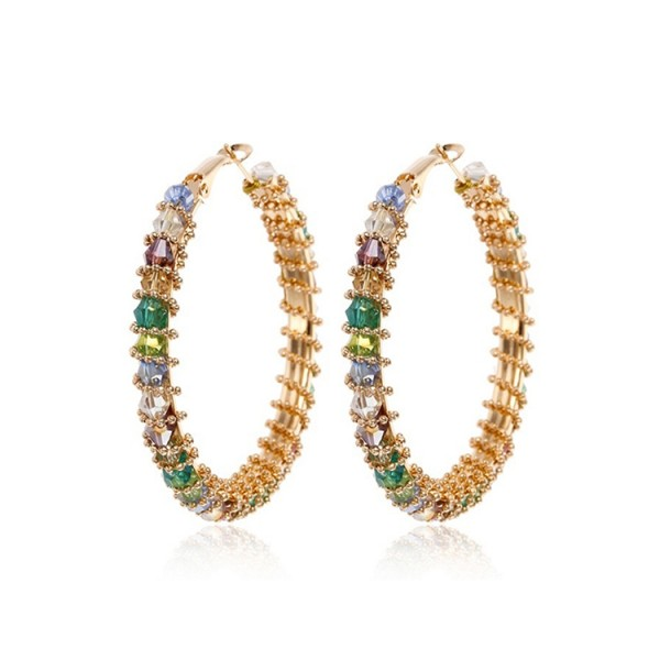 Vintage Bohemia colored zircon earrings